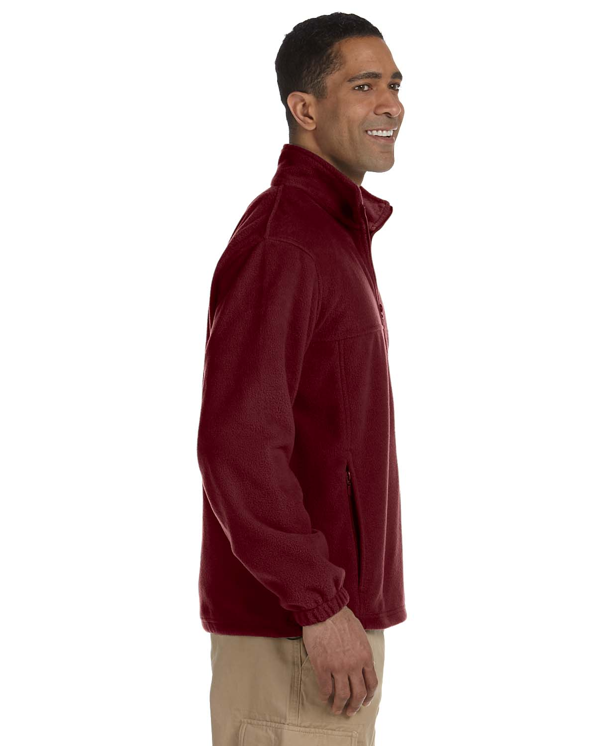 Harriton-Jacket-Men-039-s-8-oz-Full-Zip-Fleece-Solid-S-XL-R-M990 thumbnail 4
