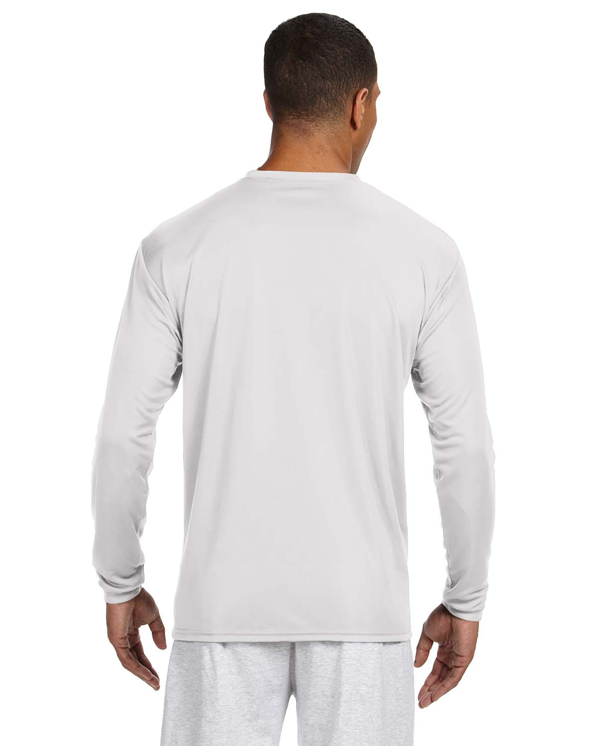 95266d4a A4 Mens Cooling Performance Long Sleeve T-shirt White L for sale online |  eBay