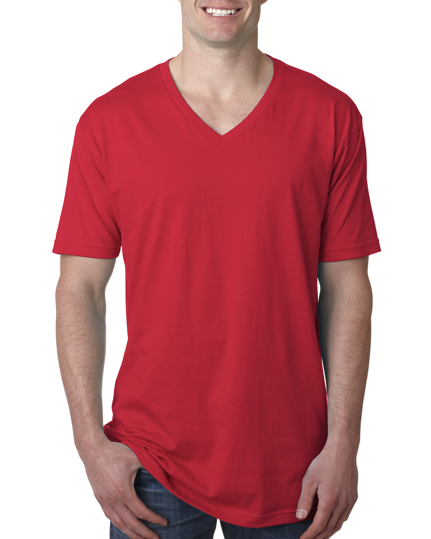 Next Level Mens Ultra Soft Premium Fit Short Sleeve V Neck TShirt MN3200